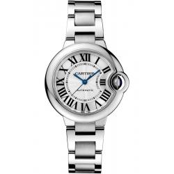 W6920071 Ballon Bleu de Cartier 33 mm Automatic Silver Dial Steel Watch