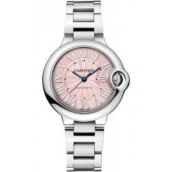W6920100 Ballon Bleu de Cartier 33 mm Automatic Pink Dial Steel Watch