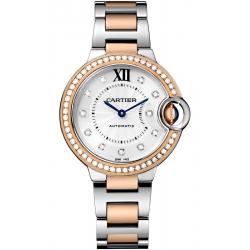Ballon Bleu de Cartier 33 mm 18K Pink Gold Steel Watch WE902077