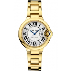 Ballon Bleu de Cartier 33 mm 18K Yellow Gold Watch WGBB0005