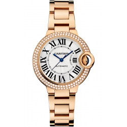 Ballon Bleu de Cartier 33 mm 18K Pink Gold Diamond Watch WE902064