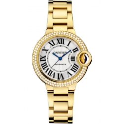 Ballon Bleu de Cartier 33 mm 18K Yellow Gold Diamond Watch WJBB0002