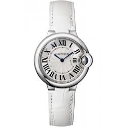 W6920086 Ballon Bleu de Cartier 33 mm White Leather Steel Watch