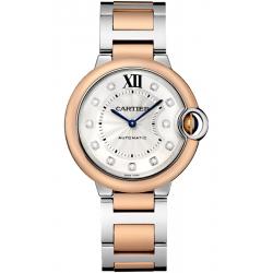 W3BB0007 Ballon Bleu de Cartier 36 mm Diamond Dial 18K Pink Gold Steel Watch
