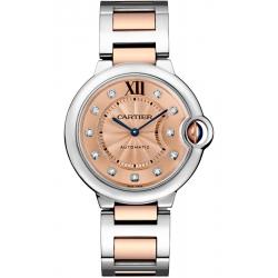 WE902054 Cartier Ballon Bleu 36 mm Diamond Dial Two Tone Gold Watch
