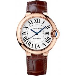 Ballon Bleu de Cartier 36 mm Brown Leather Gold Watch WGBB0009
