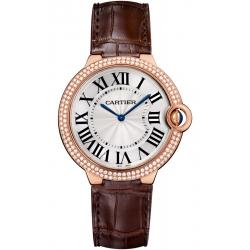 WE902055 Cartier Ballon Bleu 40 mm Diamond 18K Pink Gold Watch
