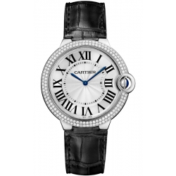 Ballon Bleu de Cartier 40 mm Diamond 18K White Gold Watch WE902056