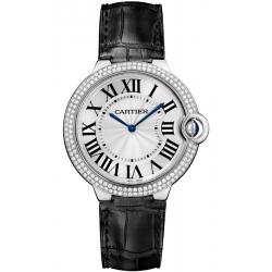 WE902056 Cartier Ballon Bleu 40 mm Diamond 18K White Gold Watch