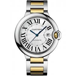 W2BB0022 Cartier Ballon Bleu 42 mm Steel 18K Yellow Gold Watch