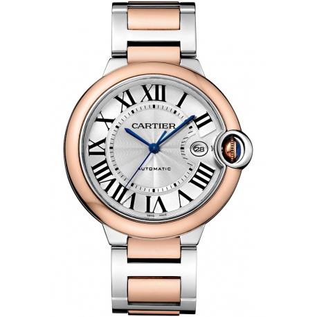W2BB0004 Cartier Ballon Bleu 42 mm Automatic Steel 18K Pink Gold Watch