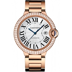 Ballon Bleu de Cartier 42 mm Diamond 18K Pink Gold Watch WJBB0029