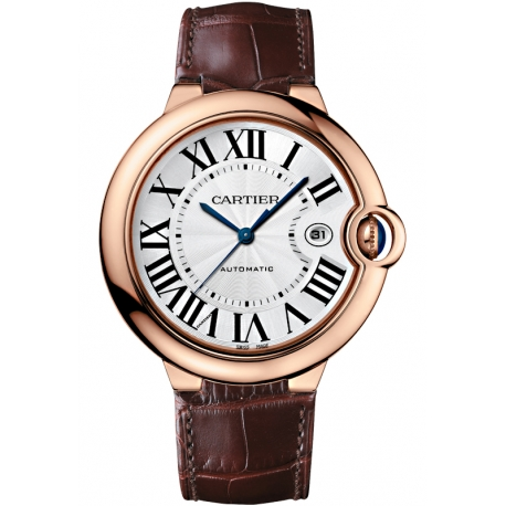 WGBB0017 Ballon Bleu de Cartier 42 mm Brown Leather Silver Dial Watch