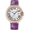WJBB0031 Cartier Ballon Bleu 42 mm Purple Leather Diamond Watch