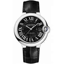 WSBB0003 Cartier Ballon Bleu 42 mm Automatic Black Dial Steel Watch