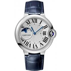 Ballon Bleu de Cartier Moonphase 37 mm Leather Watch WSBB0020