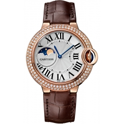 Ballon Bleu de Cartier Moonphase 37 mm Pink Gold Watch WJBB0027