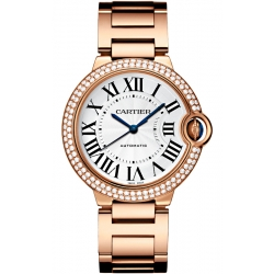 Ballon Bleu de Cartier 36 mm Diamond 18K Pink Gold Watch WJBB0005