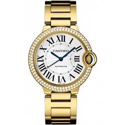 WJBB0007 Cartier Ballon Bleu 36mm Diamond 18K Yellow Gold Watch