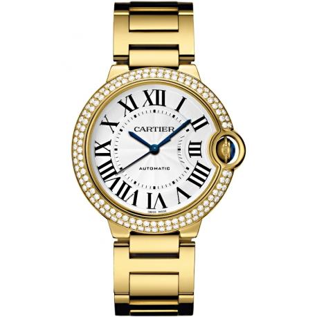 WJBB0007 Cartier Ballon Bleu 36mm Diamond 18K Yellow Gold Watch