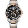 W7100054 Calibre de Cartier Diver 42 mm 18K Pink Gold Steel Watch