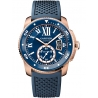 WGCA0010 Calibre de Cartier Diver 18K Pink Gold Blue Rubber Watch
