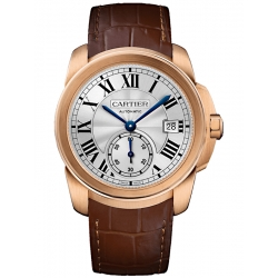 Calibre de Cartier 38 mm 18K Pink Gold Leather Watch WGCA0003