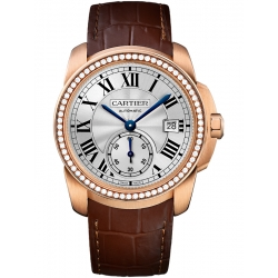 Calibre de Cartier 38 mm Diamond 18K Pink Gold Watch WF100013