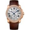 WF100013 Calibre de Cartier 38 mm Diamond 18K Pink Gold Watch