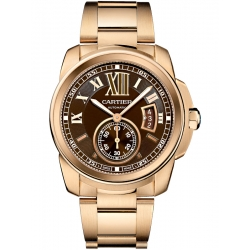 Calibre de Cartier 42 mm 18K Pink Gold Bracelet Watch W7100040