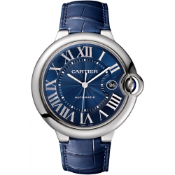 WSBB0025 Ballon Bleu de Cartier 42 mm Blue Leather Steel Watch
