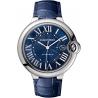 WSBB0025 Ballon Bleu de Cartier 42 mm Blue Leather Steel Watch