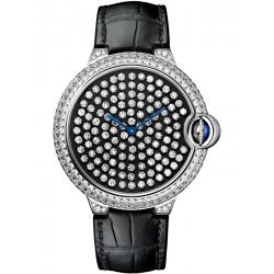 Ballon Bleu de Cartier 42 mm Diamond 18K White Gold Watch HPI01062