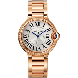 WJBB0037 Cartier Ballon Bleu 36 mm 18K Pink Gold Diamond Watch