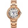 WJBB0036 Ballon Bleu de Cartier 33mm Diamond 18K Pink Gold Watch