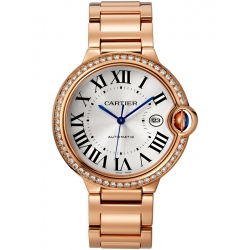 Ballon Bleu de Cartier 42 mm 18K Pink Gold Diamond Watch WJBB0038
