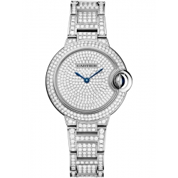 HPI00562 Cartier Ballon Bleu 33 mm 18K White Gold Diamond Watch