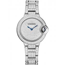 Ballon Bleu de Cartier 33 mm Diamond 18K White Gold Watch HPI00562