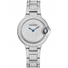 HPI00562 Cartier Ballon Bleu 33 mm 18K White Gold Diamond Watch