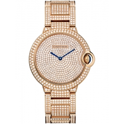 HPI00489 Cartier Ballon Bleu 36 mm 18K Pink Gold Diamond Watch