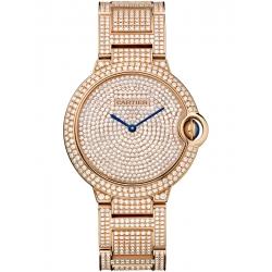 Ballon Bleu de Cartier 36 mm Diamond 18K Pink Gold Watch HPI00489