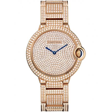 HPI00489 Cartier Ballon Bleu 36 mm 18K Pink Gold Diamond Watch