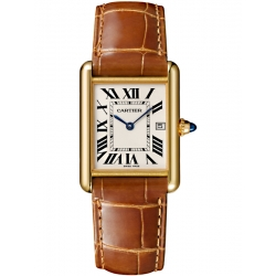 Tank Louis Cartier Large 18K Yellow Gold Leather Watch W1529756