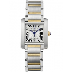 Cartier Tank Francaise Large 18K Yellow Gold Steel Watch W51005Q4