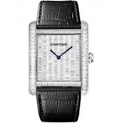 HPI00623 Cartier Tank MC Large 18K White Gold Baguette Diamond Watch
