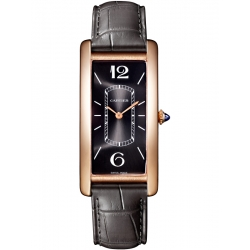 Cartier Tank Cintree 18K Pink Gold Leather Strap Watch WGTA0025