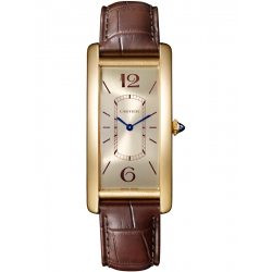 Cartier Tank Cintree 18K Yellow Gold Leather Strap Watch WGTA0026