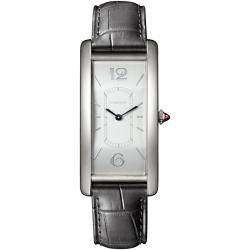 Cartier Tank Cintree Platinum Leather Strap Watch WGTA0027