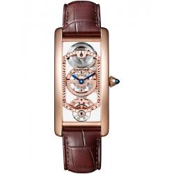 Cartier Tank Cintree Skeleton 18K Pink Gold Watch WHTA0008