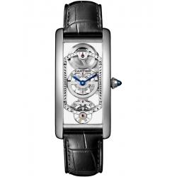 WHTA0009 Cartier Tank Cintree Skeleton Platinum Mens Watch